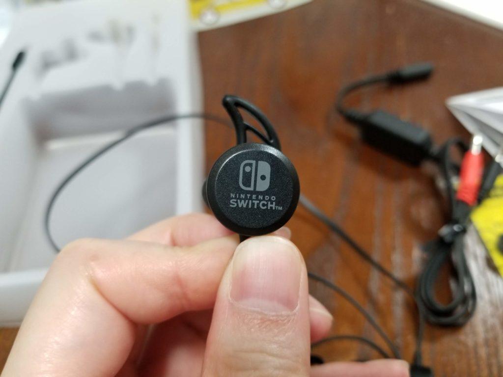 ホリゲーミングヘッドセット インイヤー for Nintendo Switch ブラック